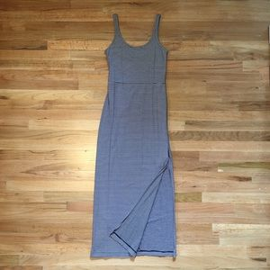 The GAP navy striped maxi dress.